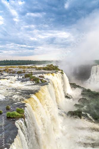 Fotografie, Obraz  Tourists at Iguassu Falls at Iguassu National Park, World Natural Heritage Site