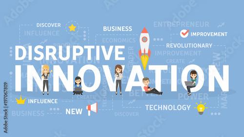 Fotografie, Obraz  Disruptive innovation concept.