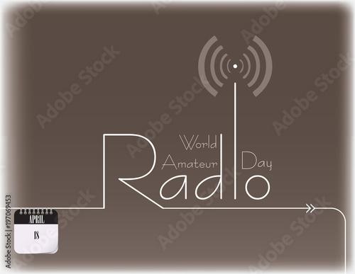 World Amateur Radio Day Canvas Print