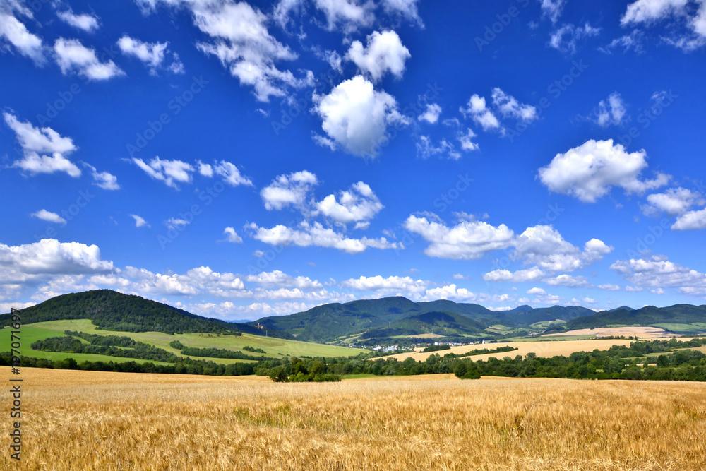 Fototapeta  Agricultural landscape in  mountain, Slovakia
