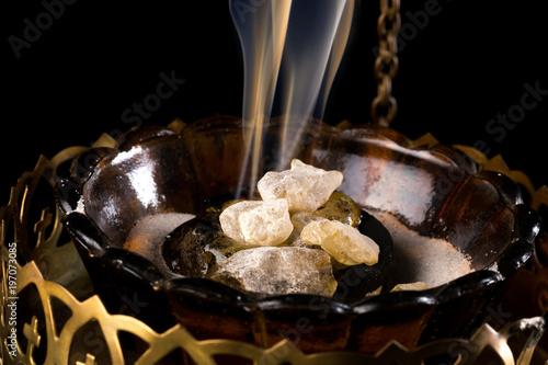 Valokuva  Incense on charcoal