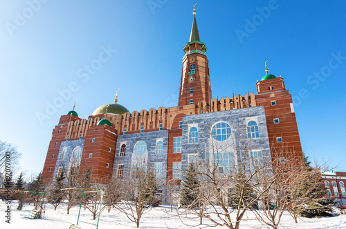 Fotografia, Obraz  Cathedral Mosque in winter sunny day in Samara, Russia