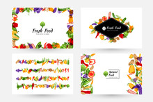 Vegetables Banners And Element...