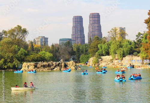 Fotobehang Mexico Lago del parque de Chapultepec Mexico