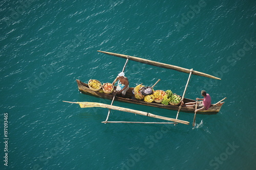 Madagascar. Fishing boats of the Indian Ocean