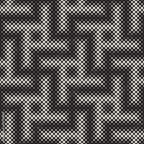 Foto op Aluminium Kunstmatig Stylish halftone texture. Endless abstract background with random size shapes. Vector seamless pattern.