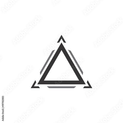 Foto triangle logo vector