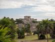 Tulum, Mexico, South America: [Tulum ruins of ancient Mayan city, tourist destination, Caribbean sea, gulf, beach]