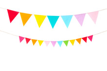 Colorful Party Flags Isolated ...