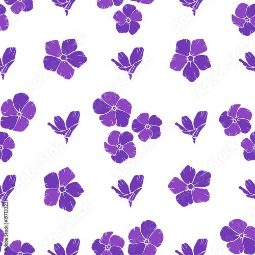 Slika na platnu Seamless background with purple flowers. Vector illustration.