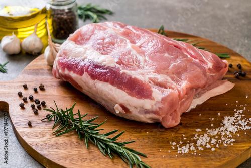 Valokuva  fresh pork raw fillet