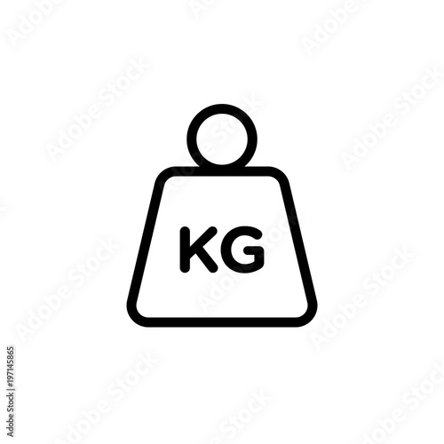Fotografie, Obraz  kilogram weight outlined vector icon