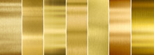 Seven Various Brushed Gold Met...