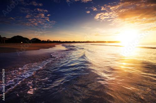 Spoed Foto op Canvas Zee zonsondergang sunset above the sea