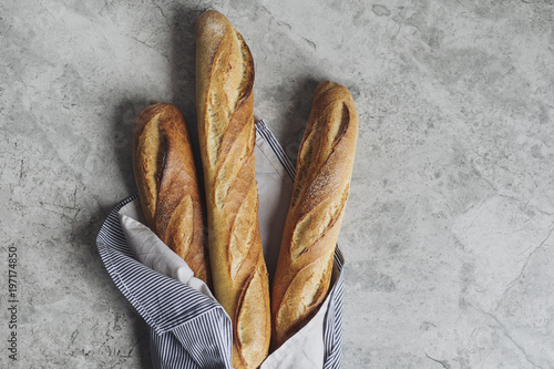 Deurstickers Brood Baguette Bread