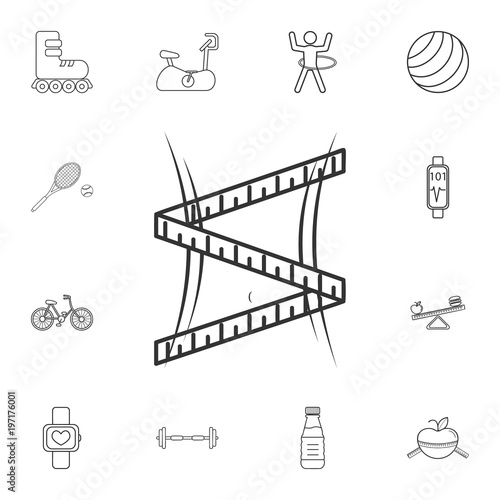 Enjoyable Waist With Measuring Tape Line Icon Detailed Set Of Gym And Fitness Wiring Digital Resources Dimetprontobusorg