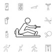 Man People Athletic Gym icon. Detailed set of gym and fitness icons. Premium quality graphic design. One of the collection icons for websites, web design, mobile app