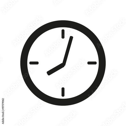 Fotografia, Obraz  clock face icon on white background