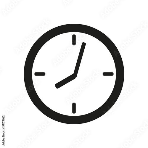 Valokuva  clock face icon on white background
