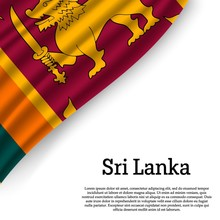 Sri Lanka Waving Flag On White...