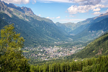 Aerial View On Chamonix Valley...