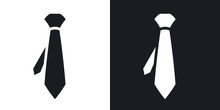 Vector Necktie Icon. Two-tone ...
