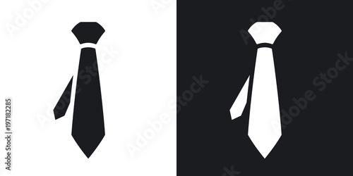 Stampa su Tela  Vector necktie icon