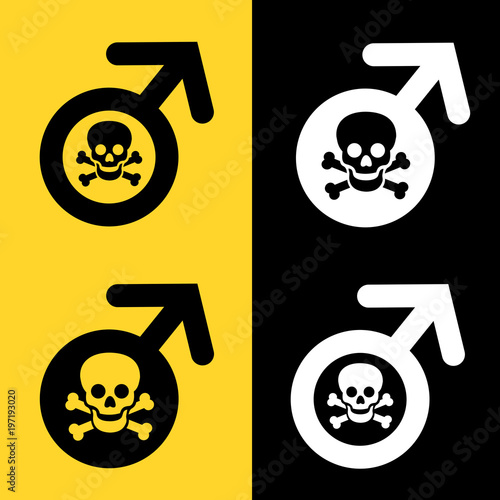 Photo Toxic masculinity / Death of manhood and male sex