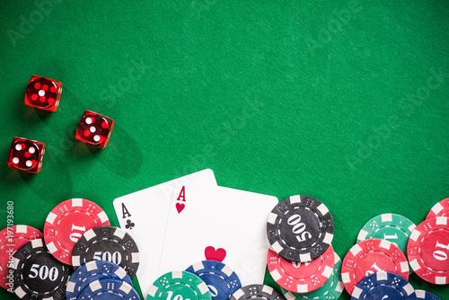 Poker and casino gamlbing header плакат