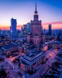 Fototapeta Miasto - Warszawa z lotu ptaka