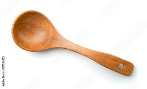 Fotografie, Obraz Top view of empty wooden spoon