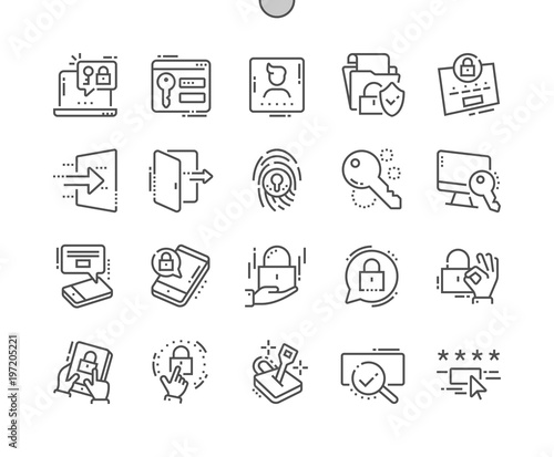 Photo  Login Well-crafted Pixel Perfect Thin Line Icons 30 2x Grid for Web Graphics and Apps