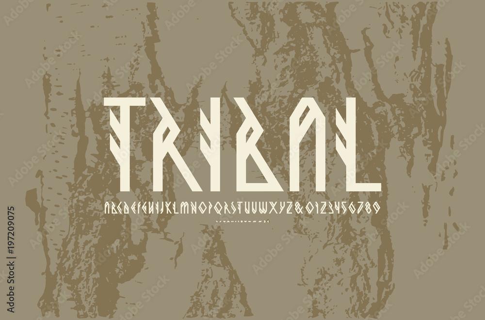 Fototapeta Decorative geometric sans serif font