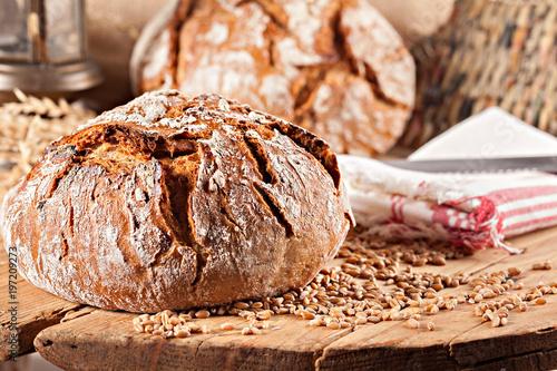 Deurstickers Bakkerij bread with cereal grains