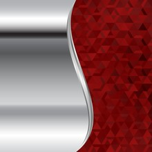 Metallic Background And Red Mo...