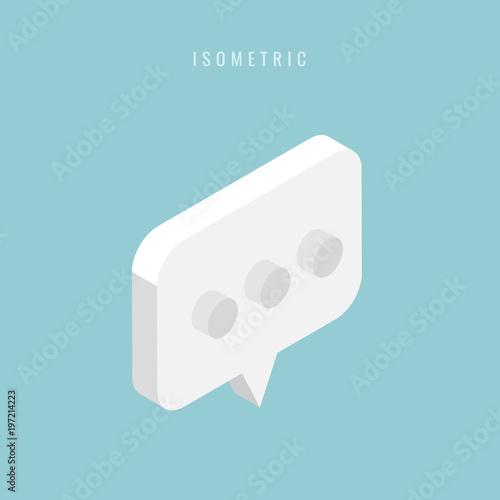 isometric Abstract speech bubble . Vector illustration Wallpaper Mural