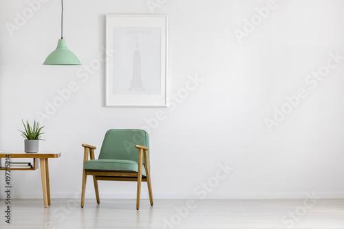 Fotografie, Obraz  Retro armchair in bright interior
