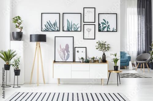Fotografie, Obraz  Posters in living room