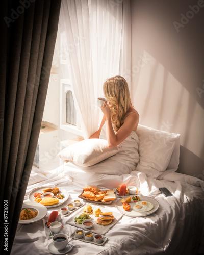 Luxury Travel Lifestyle Breakfast View Exotic Hotel Resort