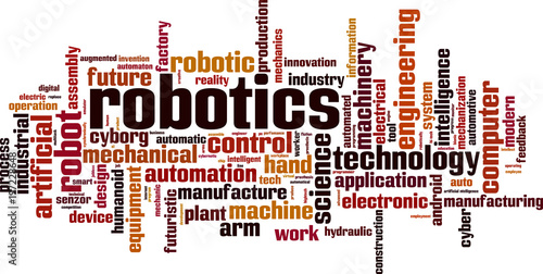 Robotics Word Cloud Buy This Stock Vector And Explore Similar