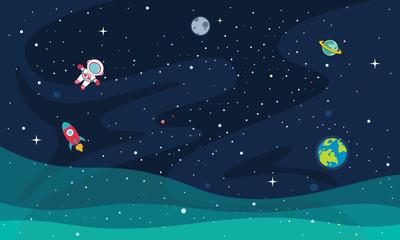 Fototapeta Vector Illustration Of Space