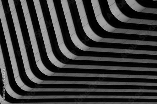 Obraz simple architecture of modern building pattern - black and white - fototapety do salonu