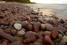 Round Stones On A Beach