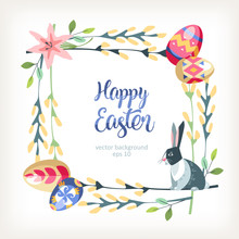 Easter Square Background With ...