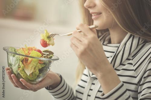 Plakat Sałatka dieta pojęcie zdrowego odżywiania