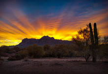 Sunrise_Superstition Mountains...