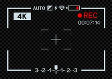 4K Video Camera Viewfinder Dark
