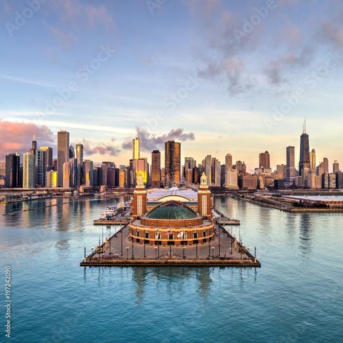 Poster Chicago Golden City
