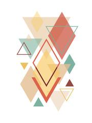 Fototapeta Wzory geometryczne Minimalist Scandinavian Abstract Geometric Art