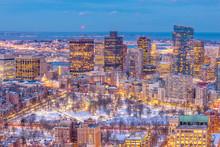 Aerial View Of Boston Skyline ...